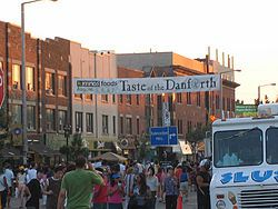 The annual Taste of Danforth festival held in Toronto. Further information: Cuisine of Toronto